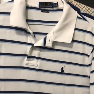 Polo Ralph Lauren White Striped Polo